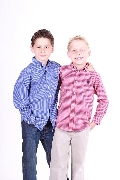 男の子2人