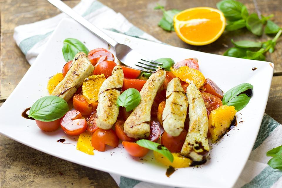 ミニトマト鶏肉